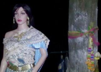 เห็นผู้หญิงยืนอยู่ที่ต้นไม้ คอหวยไม่พลาดขอเลขเด็ด