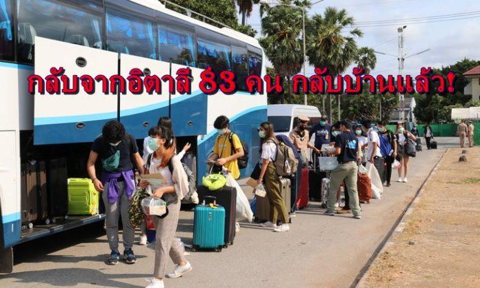 นักเรียนทุน กลับจากอิตาลี 83 คน กลับบ้านแล้ว! เที่ยวบิน TG-945 จากกรุมโรม ประเทศอิตาลี ที่มีนักเรียนไทย ทุนแลกเปลี่ยนจำนวน 78 คน