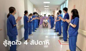 ผู้ป่วยโควิด-19 ขั้นวิกฤตรายแรกหายแล้ว หมอ-พยาบาลรามาฯ ส่งกลับบ้านแล้ว